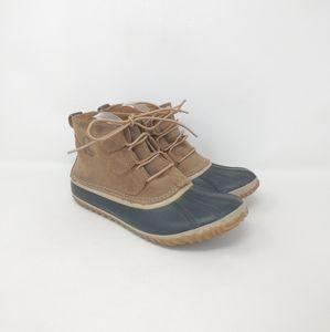 Sorel Waterproof Shortie Leather Duck Boots Wmns 9